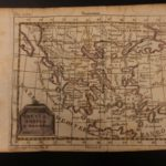 1742 Color Copper MAP of GREECE Aegean Sea Athens Macedonia Romania 15cm X 22cm