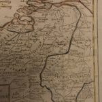 1784 Color MAP of BELGIUM & Netherlands Pays Bas Dunkirk France Vaugondy