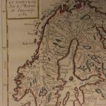 1784 Color MAP of SCANDINAVIA Sweden Norway Finland Denmark Russia Vaugondy