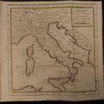 1784 Color MAP of ITALY Sardinia Corsica Sicily Rome Naples Venice Vaugondy