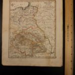 1833 Color Steel MAP of Prussia Poland Hungary Galicia Transylvania 26cm X 22cm