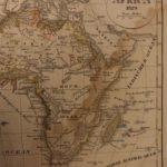 1833 Color Steel MAP of Africa Sahara Egypt Morocco Madagascar Arab 26cm X 22cm