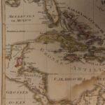 1833 Color Steel MAP of the West Indies Cuba Caribbean Sea Jamaica 26cm X 22cm