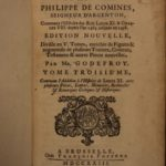 1723 Memoires of Philippe Commines King Louis IX France Political Philosophy SET