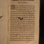 1588 Les Bigarrures Secret Codes SORCERY Abracadabra Magic WITCHCRAFT Witches