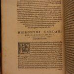 1585 Cardano Dreams Oneirocritica Occult Medicine Secrets Alchemy Lapidary 2in1