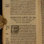 1539 1st ed Famous Magistratibus of Fenestella Roman Law CULTS Pagan Priesthood