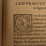 1553 1st ed Philo of Alexandria Egypt Jewish Philosophy Allegory Hebrew Bible