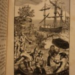 1784 Robinson Crusoe Daniel Defoe Voyages Illustrated Shipwreck Castaway 2v SET