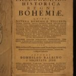 1679 1st ed History of Bohemia Czech Bohuslav Balbin Prague Hungary HUGE FOLIOS