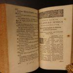 1639 Works of Seneca Rhetoric Stoicism Philosophy Lipsius ROME Elzevier 3v SET