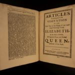 1684 Rare Anglican Sparrow Documents King Edward VI James I Charles I Elizabeth