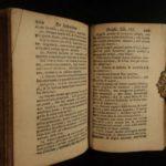 1698 MINIATURE Imitation of Christ Thomas a Kempis De Imitatione Christi Binding