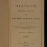 1861 1ed Southern Rebellion Confederate CIVIL WAR Illustrated Slavery Victor SET