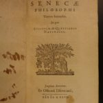 1649 Works of Seneca Roman Mythology Elzevier Philosophy ROME Stoicism Latin 4v