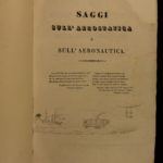 1837 1ed Aeronautics & Aviation FLIGHT Balloons Italian Navigation COSTA SIGNED