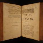 1672 Famous 3rd ed Titles of Honor John Selden Heraldry Royalty COINS Genealogy