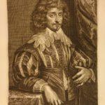1645 1st ed ART of Anthony van Dyck Icones Principum Virorum 68 FAMOUS Portraits