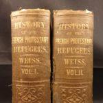 1854 HUGUENOT French Protestant Refugees Edict of Nantes 2v Wars of Religion