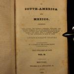 1825 View of South America & Mexico Simon Bolivar PERU Guatemala Chile Colombia
