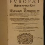 1652 1ed Theatrum Europaeum Geography ATLAS Maps City Views Illustrated Merian