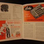 1957 SIGNED New York Yankees Baseball Program Mickey Mantle Slaughter Berra