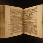 1710 1ed Abraham Sancta Clara Geistlicher Kramer-Laden German Pigskin Binding!