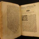 1550 Italian Letters of Claudio Tolomei on Poetry Woodcut MAP Mount Argentario