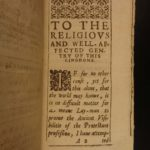 1630 Via Tuta The Safe Way Puritan Church of England Controversy Humphrey Lynde
