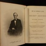 1869 1ed Life of Jefferson Davis SECRETS Civil War Slavery Confederate President