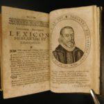 1698 Johann Buxtorf HEBREW Latin Dictionary Lexicon OT Bible Concordance Judaica