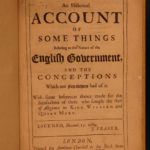 1690 Historical Account of English Government Whitby Norman Conquest Scotland