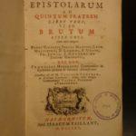 1725 1st ed CICERO Letters Roman Republic Julius Caesar Brutus FINE BINDING ARMS