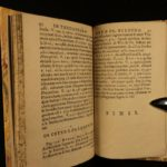 1659 1st ed Greek Poetry Theognis Phocylides Mathematics Pythagoras Solon Law