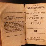 1656 1ed Osborne on Ottoman TURKS Sultans Machiavelli Sweden Martin Luther