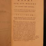 1784 Voltaire Spirit of Nations ISLAM Muslim Turkey Mohammed Quran Charlemagne
