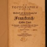 1661 Topographiae Galliae French Geography Illustrated MAPS Zeiler Merian France