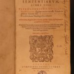 1593 1st ed Peter Lombard Sentences Bible Commentary Medieval Catholic Doctrine