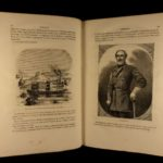 1865 1st ed Abraham Lincoln by Arnaud American Civil War MAP Illustrated French