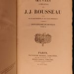 1825 EXQUISITE Jean-Jacques Rousseau French Literature Confessions Heloise Music
