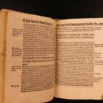 1511 Pope Gregory I Bible & Commentary Psalms Petit Septem Psalmos P. Incunable