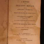 1849 1st ed Precious Metals GOLD RUSH California Mining Gems Geology Comstock
