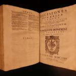 1665 1ed Vincenzo Bondeni Catholic Church LAW Controversy Roman Rota Civil FOLIO