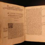 1573 1ed Philosophy of CICERO Lambin Divination Academica LAW Divination ROME