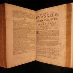 1732 1st Utrecht Biblia Sacra Forbidden Catholic DUTCH BIBLE Schuur Huge FOLIO