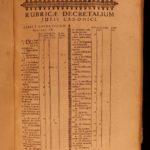 1696 Pope Gregory XIII Corpus Juris Canon LAW Inquisition Gregory IX Decretals