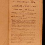 1728 1st ed Consecration of English Bishops Vindication Church of England Mason