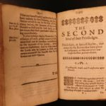 1642 1st ed Privileges of Baronage of England English Nobility Hunting Selden