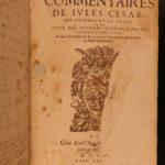 1589 Julius Caesar WAR Commentaries Military Tactics Illustrated MAP Pompeii