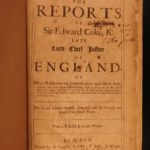 1680 Edward Coke Reports ENGLISH LAW Judicial Court Cases England HUGE FOLIO